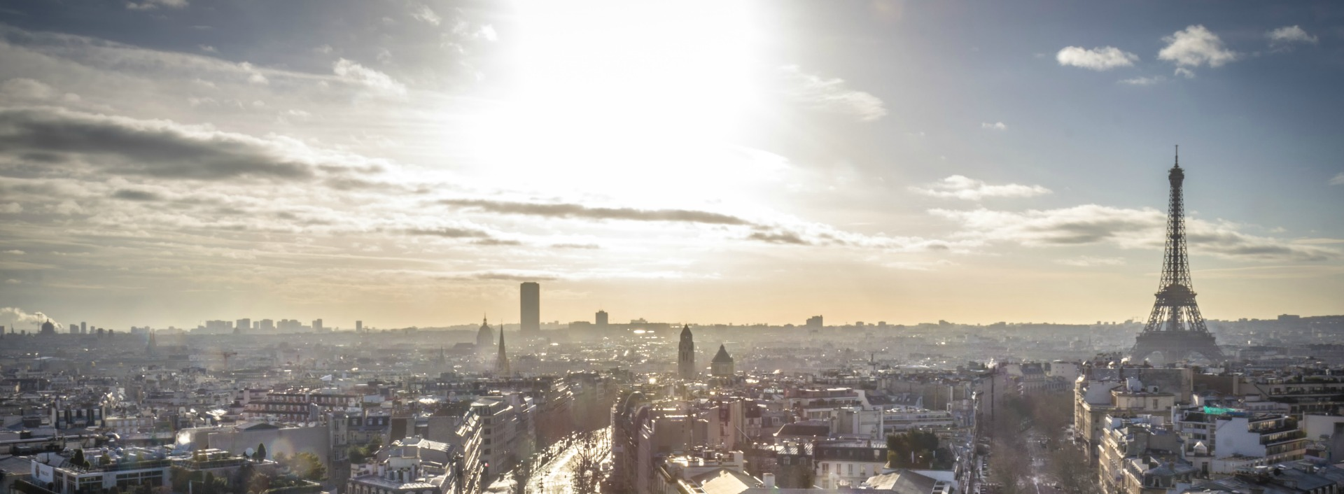 French words used in English: French city of Paris at sunrise