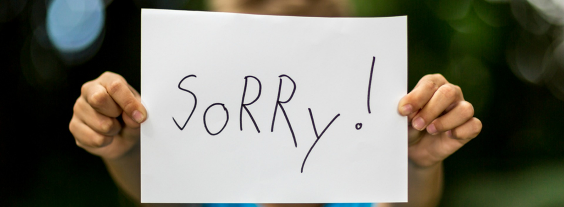 "Say ""sorry"" in English"