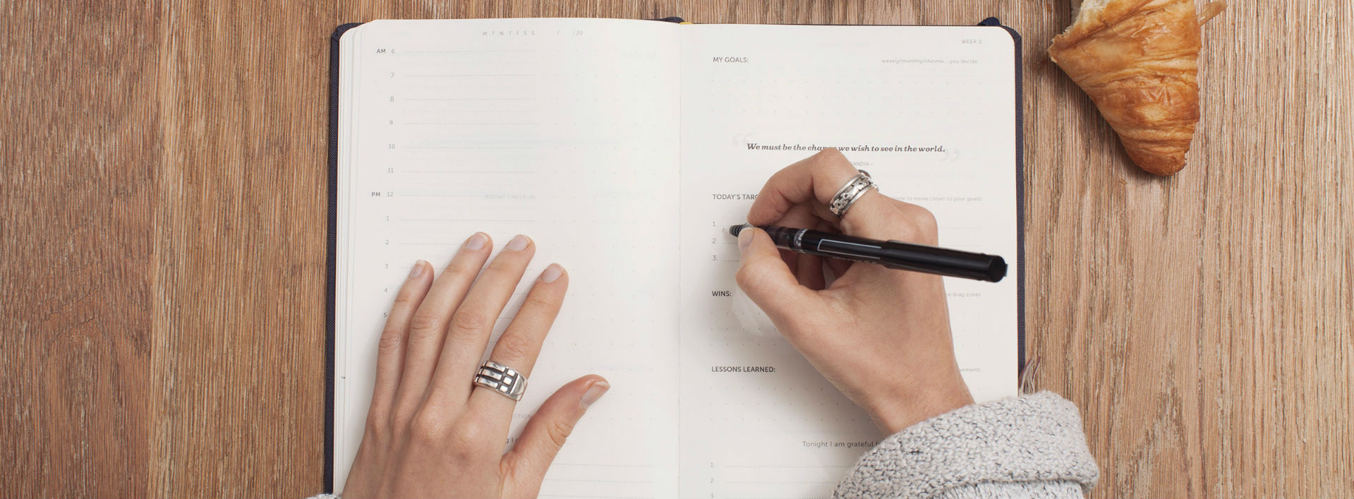 A woman writing in a notebook 5 untranslatable German words