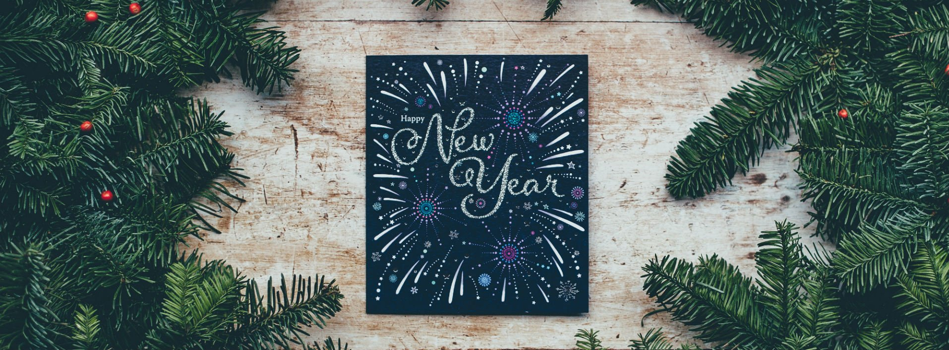 Chalkboard that says Happy New Year: New Ways to Say Happy New Year in English