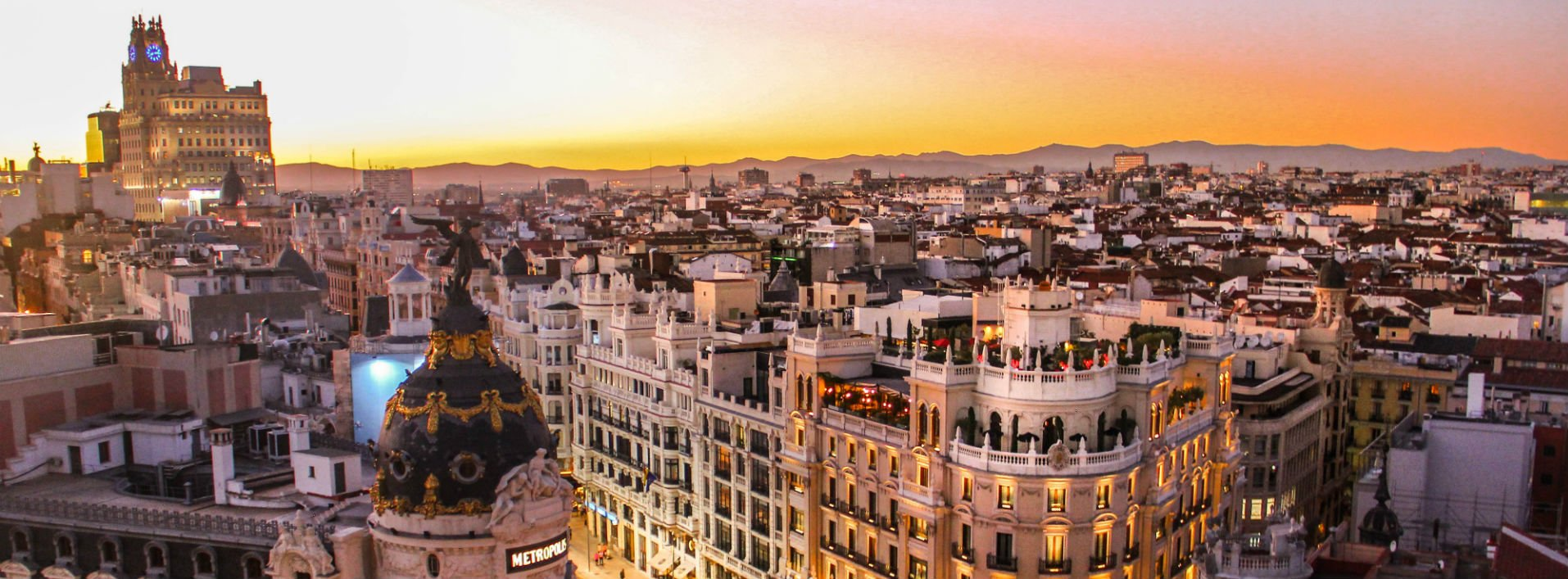 An aerial view of a city in Spain - learn Spanish online with native speakers.