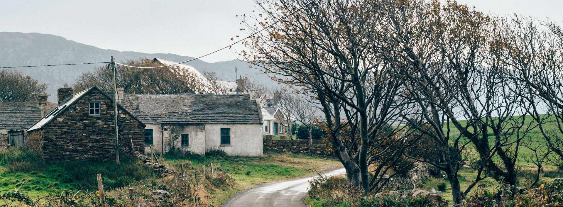 Cottage house at the side of a country road: loan words from Irish
