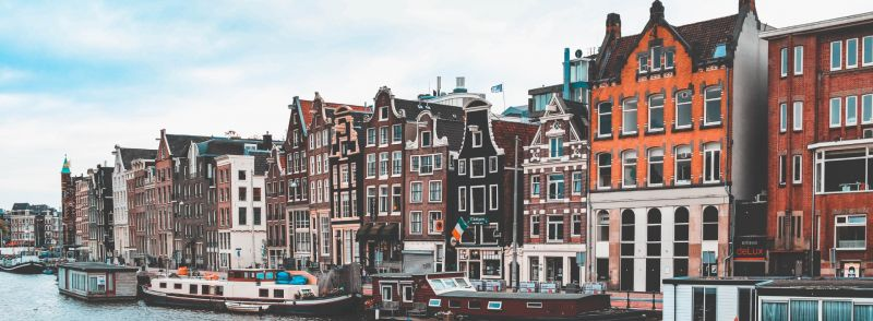A row of dutch houses along a river : Dutch loan words