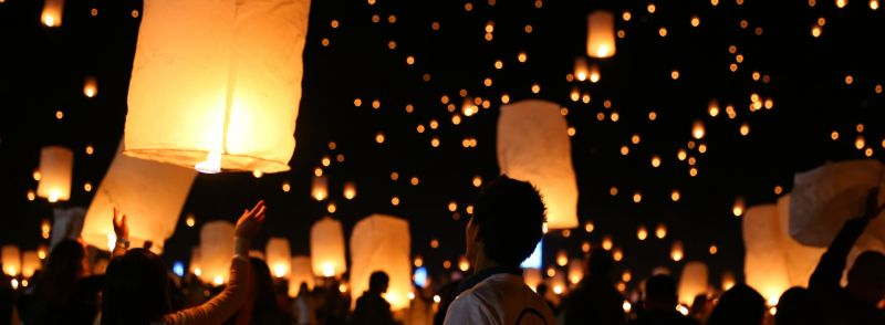 Many lanterns are released into the sky at night. Learn when to use many and much in English.