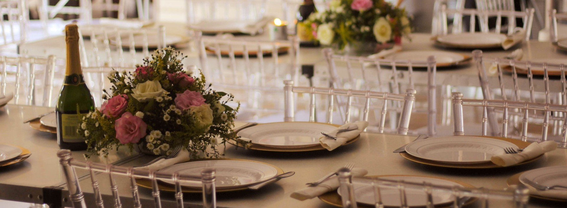 Table manners in English: a dinner table is set for a dinner party